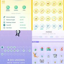 Pokémon Go compte (niveau 40) - 186 Shiny - 48 100IV