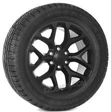 """Set 4 New 20"""" Satin Black Snowflake Wheels Tires Chevy Silverado Suburban Tahoe"""