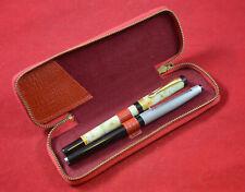 German Vintage fountain pen x 2 pcs Heiko Iridium + leather case