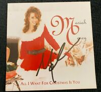 MARIAH CAREY HAND SIGNED ALL I WANT FOR CHRISTMAS CD LIM ED W/COA+PROOF RARE WOW