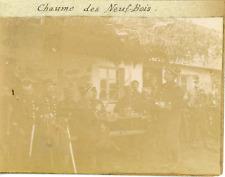 France, Vosges, Militaires à la chaume des Neuf-Bois ca.1899 vintage citrate pri