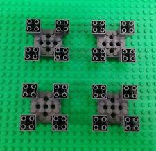 *NEW* Lego Dark Grey 6x6 Stud Raised Platform Four Posts Baseplates - 4 pieces