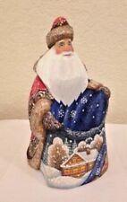 G DeBrekht Masterpiece Collection Hand Carved Starlight Puppy Santa 8210754