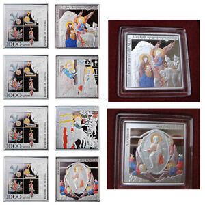 Armenia 2010 Gospel Miniatures 4 x 1000 Dram Silver Proof Colored Coin Set