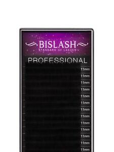 Künstliche Seidenwimpern BISLASH, D Curl, Stärke 0.07 – Silk Lashes