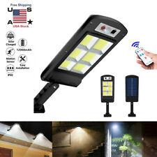Commercial 120LED Solar Street Light Motion Sensor Dusk-to-Dawn Wall Lamp+Remote