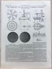 Construction/Manufacture: Parabolic Reflector: 1908 Engineering Magazine Print