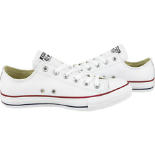 CONVERSE ALLSTARS WHITE/RED  LEATHER OX LO LADIES WOMENS MENS