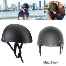 Motorrad 1/2 Half Open Face Helm Scooter Rollerhelm Halbschale Matt Schwarz #E