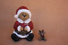 Boyds Bears Christmas  Resin Santa with Glow McNibble Treasure Box NEW