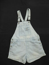 Denim Co distress/bleach denim style bib/braces playsuit / hotpants Size 8