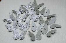 16 Set 3D Schmetterlinge Silber  Wanddeko Weihnachten