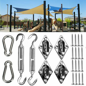 8pcs Stainless Steel Outdoor Garden Sun Sail Shade Canopy Fixing Fittings Screws
