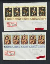 Republic of Maldives Lot R-Mail Covers Male circ. 1970 to Willich Germany 2 piec
