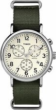 Timex Weekender Chrono Watch TW2P71400 , Nylon strap and Indiglo Night Light