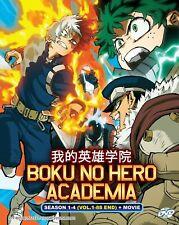 DVD My Hero Academia Complete Season 1 - 4 English Dubbed Anime 88 Eps + Movie