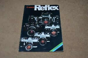 CANON Reflex vintage 1975 camera catalogue sales brochure