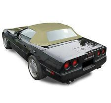 Chevy Corvette 1986-1993 Convertible Soft Top With Plastic Window Tan Vinyl