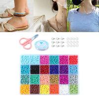 14523Pc perles de rocaille de verre entretoise en vrac pour bricolage Bracelet