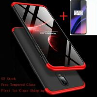 For Oneplus 6T/7 360° Full Body Protection Shockproof Slim Hybrid Case+Glass