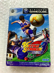 "Virtual Striker 3 Ver. 2002 ""Good Condition"" Nintendo Gamecube Japan"