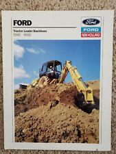 Ford Tractor Loader Backhoes - 555C  655C - Sales Brochure - 1989