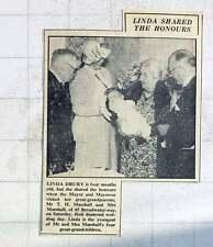 1949 Linda Drury, Four Months Old, Mr And Mrs Marshall Diamond Wedding Worthing
