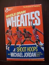 "MICHAEL JORDAN Wheaties cereal box ""Shoot Hoops with Michael Jordan"" SEALED"