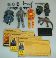 Lot 2009 GI Joe Cobra Commander v39 Blowtorch v3 Figure Accessory File Card Set
