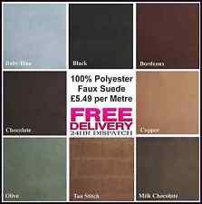 Nouveau 100% polyester faux daim tissu Craft quilting dans 8 couleurs magnifique...