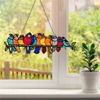 Stained Bird Window Hanging Suncatcher Acrylic Hanging Birds Pendant Decor