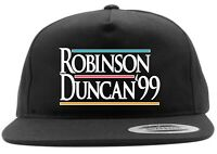 Black Tim Duncan David Robinson San Antonio Spurs 1999 Snapback Hat