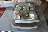 JDM Subaru Forester SF5 sti crystal kouki headlamp headlights + lense  corners