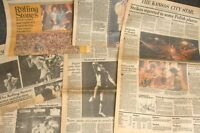 Rolling Stones Concert The Kansas City Star Times Newspapers Dec 12-16 1981 Lot