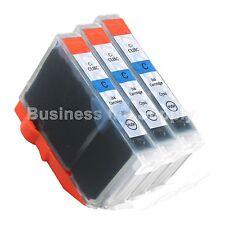 3 CYAN CLI-8 CLI-8C Compatible Ink Cartridge for Canon Printer CLI-8 CLI8 CLI-8C
