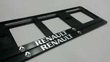 2X RENAULT NEUF EXCLUSIF SUPPORT DE PLAQUE D'IMMATRICULATION EUROPEA.