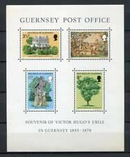 38670) GUERNSEY 1975 MNH** Victor Hugo s/s