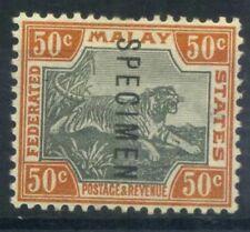 Malaya 1901 Mi. 22 Nuovo * 100% Saggio, 50 C, Tigre, filigrana 1