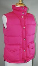 J. CREW DOWN FILL WINTER PUFFER VEST SIZE S SMALL PINK 61649