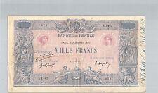 FRANCE 1000 FRANCS BLEU ET ROSE 9 DÉCEMBRE 1920 X.1462 N° 36546072 PICK 67I