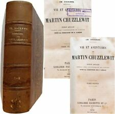 Vie et aventures de Martin Chuzzlewit 1875 Charles Dickens les 2 tomes