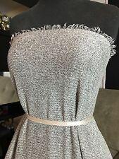 Sweater Poly Rayon Spandex 1x1 Rib Knit - 1 Yard Pre Cut - Heather Gray (GR-102)