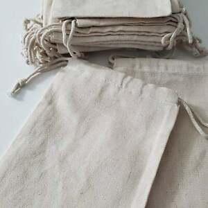 Cotton Muslin Bag. Cotton Canvas Double Drawstring Muslin Bag. Premium Quality.