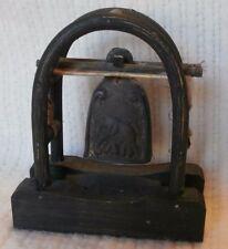 Harmonic Handmade Vintage Bell Oriental Elephant Thai animal hide bent wood