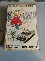 Vintage 1970's, National Panasonic RQ -413S Cassette recorder Boxed +instruction