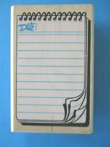 JOURNAL NOTEPAD Rubber Stamp