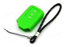 Green Silicone Case Cover For Honda Fit Jade Crider Remote Smart Key 3 Buttons 4