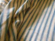 Antique Primitive Indigo Blue Farmhouse Ticking Fabric ~