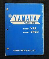 """1968 YAMAHA """"MODEL YR2 & YR2C"""" MOTORCYCLE PARTS CATALOG MANUAL NICE"""