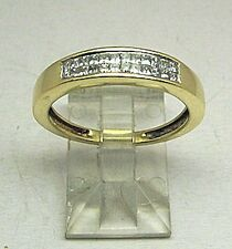 14K Gold Diamond Ring Wedding Band 0.25 ct Princess Cut SI1 Clarity H Color 14KT